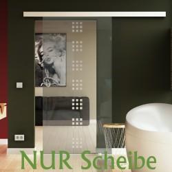 Glasschiebetür Scheibe Design Rekursiv (R) Glas ESG in 8 mm