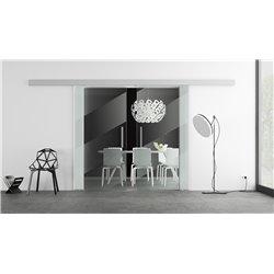 Glasschiebetür Design schräge Linien invers Basic-Beschlag Levidor / Glaslager.de 2 Scheiben