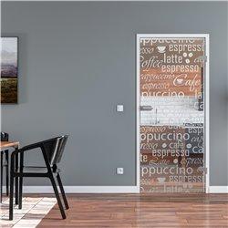 Ganzglastür / Drehtür aus ESG-Glas in Cafe-Design invers für Studio Griff und Studio Bänder