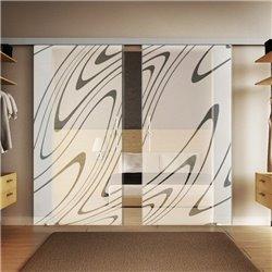 Glasschiebetür Design Wasser invers Basic-Beschlag Levidor / Glaslager.de 2 Scheiben