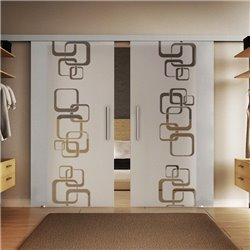 Glasschiebetür Design Ketten Basic-Beschlag Levidor / Glaslager.de 2 Scheiben