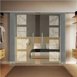 Glasschiebetür Design Kurven invers Basic-Beschlag Levidor / Glaslager.de 2 Scheiben