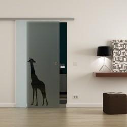 Levidor ProfiSlide SoftClose-Schiebetür Giraffen-Design