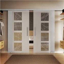 Glasschiebetür Design Kurven Basic-Beschlag Levidor / Glaslager.de 2 Scheiben