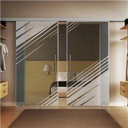 Glasschiebetür Design Stadt Basic-Beschlag Levidor / Glaslager.de 2 Scheiben