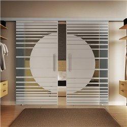 Glasschiebetür Design Orbit Basic-Beschlag Levidor / Glaslager.de 2 Scheiben