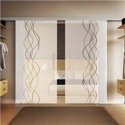 Glasschiebetür Design Rauch invers Basic-Beschlag Levidor / Glaslager.de 2 Scheiben
