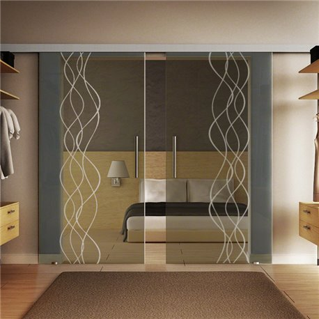 Glasschiebetür Design Rauch Basic-Beschlag Levidor / Glaslager.de 2 Scheiben