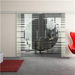 Dorma Muto 60 Glasschiebetür Orbit-Design invers zwei Scheiben