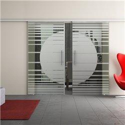 Dorma Muto 60 Glasschiebetür Orbit-Design zwei Scheiben