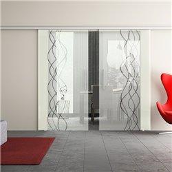 Dorma Muto 60 Glasschiebetür Rauch-Design invers zwei Scheiben