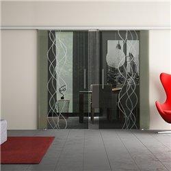 Dorma Muto 60 Glasschiebetür Rauch-Design zwei Scheiben