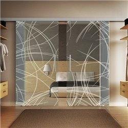 Glasschiebetür Design Kurven invers (2) Basic-Beschlag Levidor / Glaslager.de 2 Scheiben