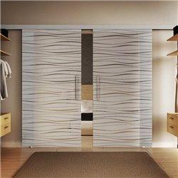 Glasschiebetür Flügel-Design Basic-Beschlag Levidor / Glaslager.de 2 Scheiben