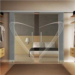 Glasschiebetür Modern-Design Speed invers Basic-Beschlag Levidor / Glaslager.de 2 Scheiben