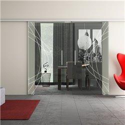 Dorma Muto 60 Glasschiebetür Ellipsen-Design zwei Scheiben modern invers