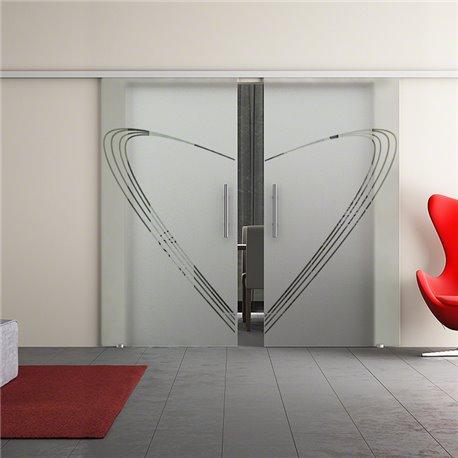 Dorma Muto 60 Glasschiebetür Speed-Design zwei Scheiben