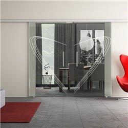Dorma Muto 60 Glasschiebetür Speed-Design zwei Scheiben invers